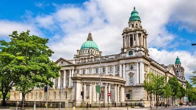 Belfast City Hall - Northern Ireland, United Kingdom (Photo via Leonid Andronov / iStock / Getty Images Plus)
