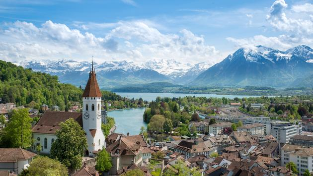 The historic city of Thun, in the canton of Bern in Switzerland (Photo via ake1150sb / iStock / Getty Images Plus)