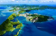Full view of Palau Malakal Island and Koror, World heritage site(photo via Norimoto / iStock / Getty Images Plus)