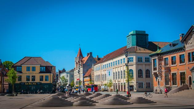 Waterfront and Rendsburggade in Aalborg, Denmark (photo via JerryBKeane/iStock/Getty Images Plus)