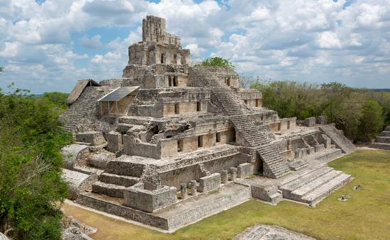 main temple at the Mayan archeological site of Edzna in the state of Campeche, Mexico (Photo via  Barna Tanko / iStock / Getty Images Plus)