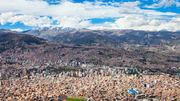 La Paz aerial view, Bolivia. La Paz is the worlds highest capital. (Photo via saiko3p / iStock / Getty Images Plus)