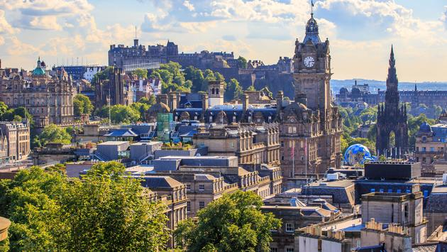 Mountain view point over Edinburgh city. (photo via bnoragitt / iStock / Getty Images Plus)