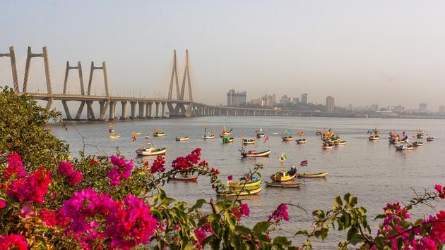 Iconic Bandra-Worli Sea link constructed in Arabic sea at Central-South Mumbai, India (SJPailkar / iStock / Getty Images Plus)