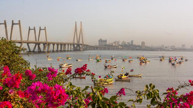 Iconic Bandra-Worli Sea link constructed in Arabic sea at Central-South Mumbai, India (SJPailkar / iStock / Getty Images Plus)
