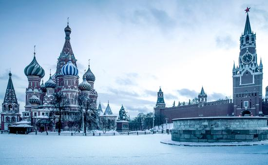 Saint Basil's Cathedral on Red Square in Moscow, Russia (mikolajn / iStock / Getty Images Plus)