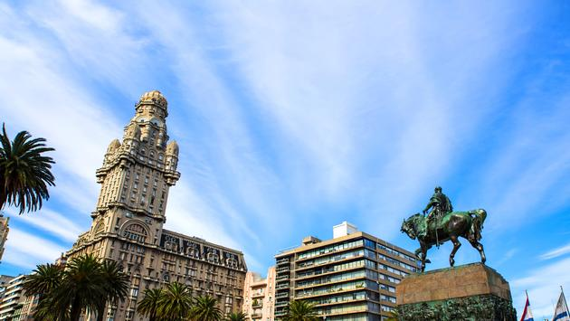 View over the Plaza Independencia in Montevideo , Uruguay. (Spectral-Design / iStock / Getty Images Plus)