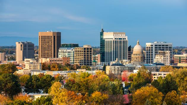 skyline of Boise Idaho.  (photo via knowlesgallery/iStock/Getty Images Plus)