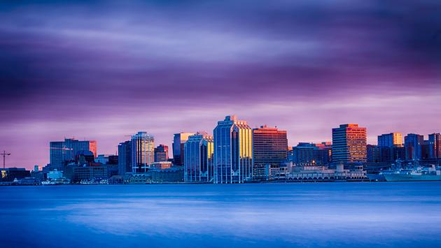 Halifax, Nova Scotia, Canada skyline at sunset.  (photo via surfman902/iStock/Getty Images Plus)