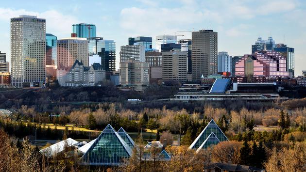 Skyline Of Edmonton, Alberta, Canada (photo via Jeff Penner / iStock / Getty Images Plus)