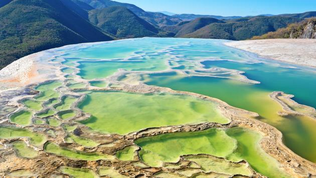 Hierve el Agua, thermal spring in the Central Valleys of Oaxaca, Mexico (Byelikova_Oksana / iStock / Getty Images Plus)
