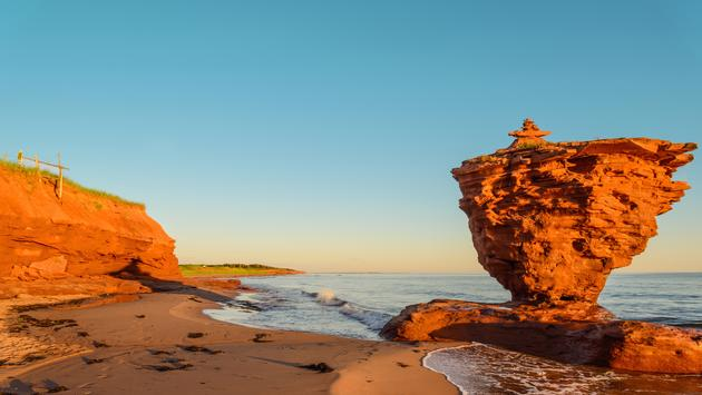 Ocean coast at the sunrise (Thunder Cove, Prince Edward Island, Canada) (Photo via PetrovVadim / iStock / Getty Images Plus)