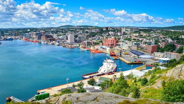 St John's Harbour in Newfoundland Canada. Panoramic view, Warm summer day in August. (Kyle Bedell / iStock / Getty Images Plus)