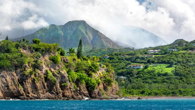 Series of eruptions of Soufriere Hills volcano between 1995 and 1999 devastated capital town Plymouth and several other villages. The zone is restricted until today, and buildings in that area are covered in volcanic flow of mud, ash, and rocks. Plymouth