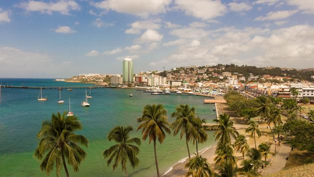 The view at Fort de France, the capital of French West Indies. (photo via KovalenkovPetr / iStock / Getty Images Plus)