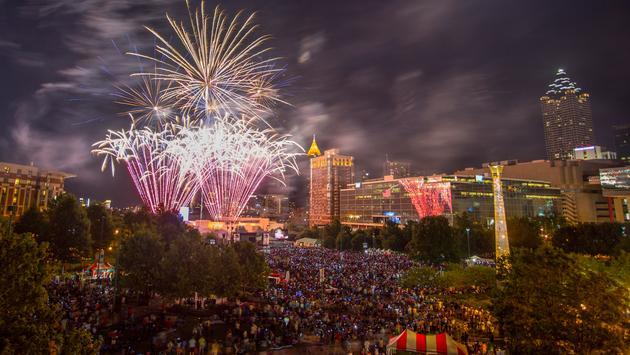 July 4th, fireworks, Atlanta