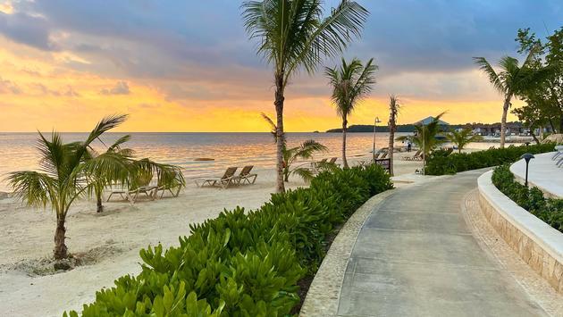Walking path along the beach in Jamaica