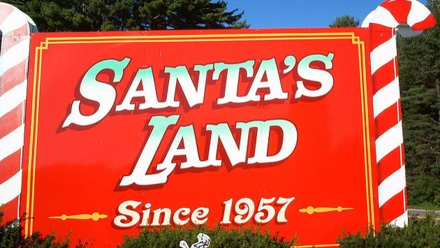 Welcome sign for the previous incarnation of Santa's Land in Vermont