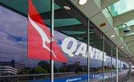 Qantas carrier terminal in Melbourne airport