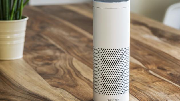 An Amazon Echo device