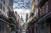 A daytime view of Bourbon Street in New Orleans