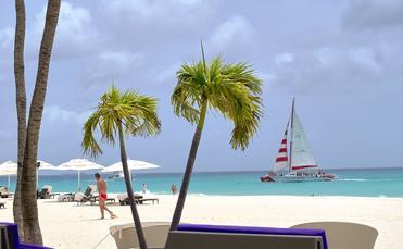From the Sand Bar, Bucuti & Tara in Aruba