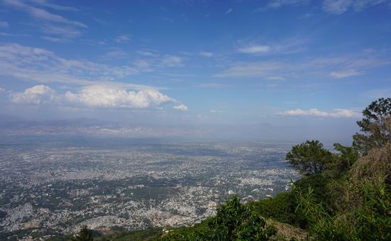 Overlooking Haiti coast