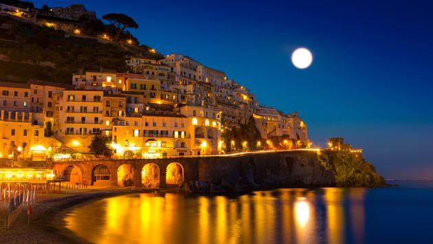 Night view of Amalfi