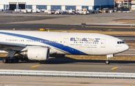 An El Al Airlines Boeing 777 taxis at JFK Airport.
