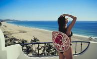 Woman wearing a bikini in Cabo San Lucas, Mexico