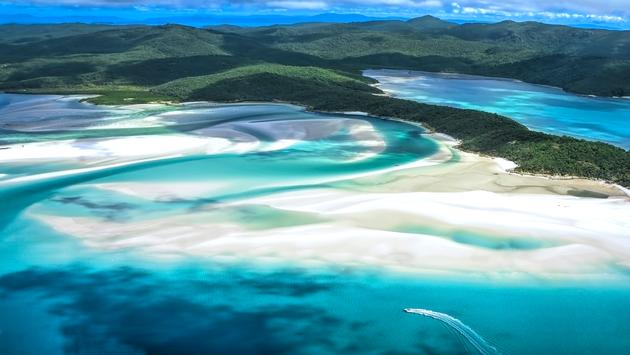 Whitehaven Beach at Whitsunday Island in Queensland, Australia
