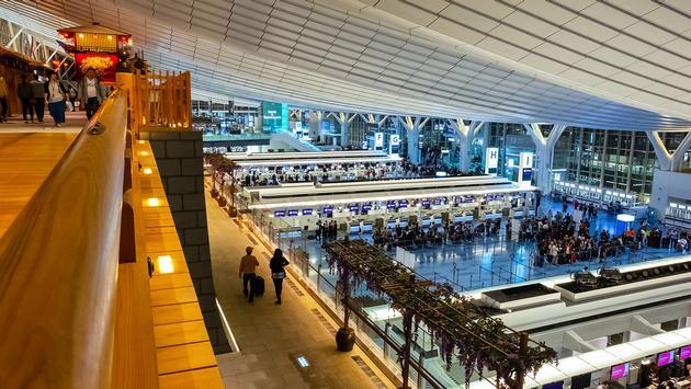 Aeroporto de Haneda em Tóquio, Japão