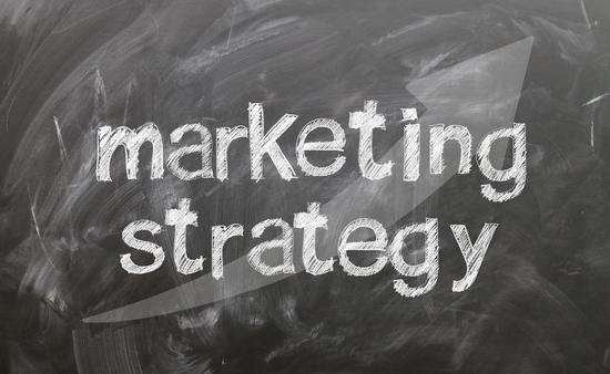 Marketing strategy chalkboard