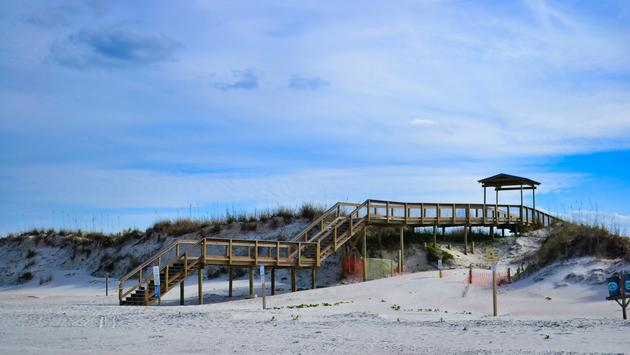 Smyrna Dunes Park, New Smyrna Beach, boardwalk, beach, Florida