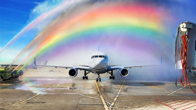 United Airlines Pride Month.