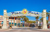 Pier Park shopping district in Panama City Beach, Florida