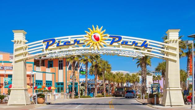 Pier Park shopping district in Panama City Beach, Florida