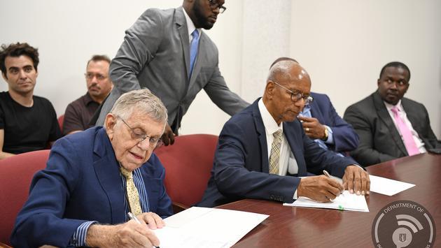 BVI Officials Sign Norman Island Development Agreement