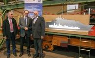 Tom Wolber, Crystal President and CEO, MV WERFTEN CEO Jarmo Laakso and Mecklenburg-Western Pomerania