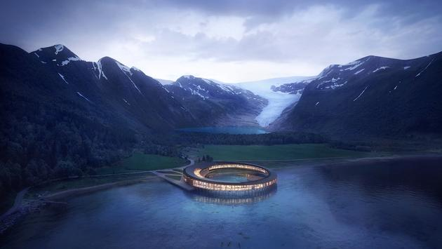 Svart, the world's first energy-positive hotel, Norway