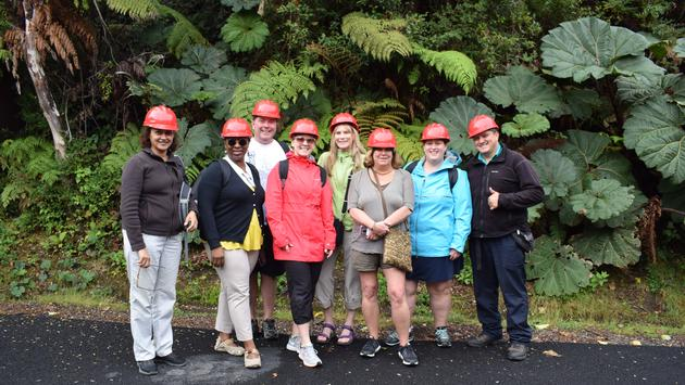 Le groupe au Parc national du volcan Poas