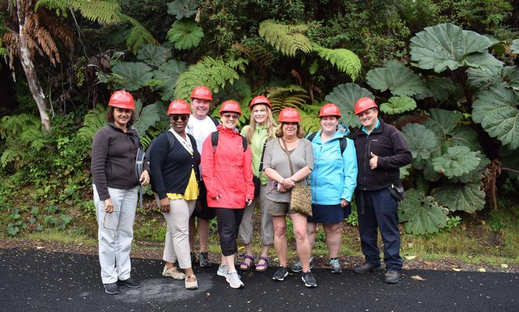 Le groupe au Parc national du volcan Poas