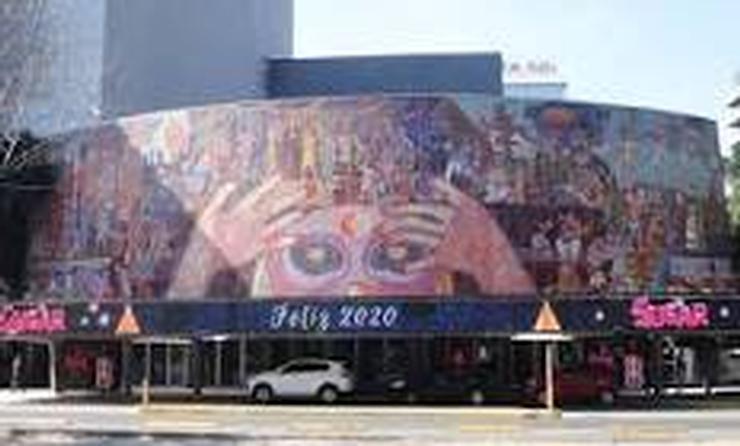 Mural de Diego Rivera en el Teatro de los Insurgentes de la Ciudad de México.
