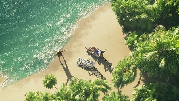 Paradise tropical island (Photo via Orla / iStock / Getty Images Plus)