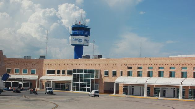 Cancun International Airport Terminal 2 and control tower