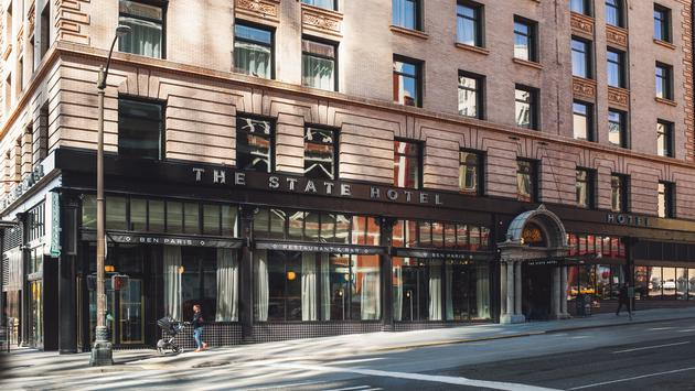 Exterior of The State Hotel in Washington