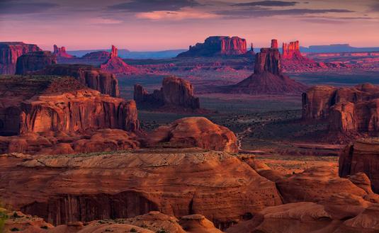Hunts Mesa navajo tribal majesty place near Monument Valley, Arizona, USA
