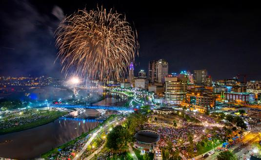 Fireworks, Columbus, 4th of July
