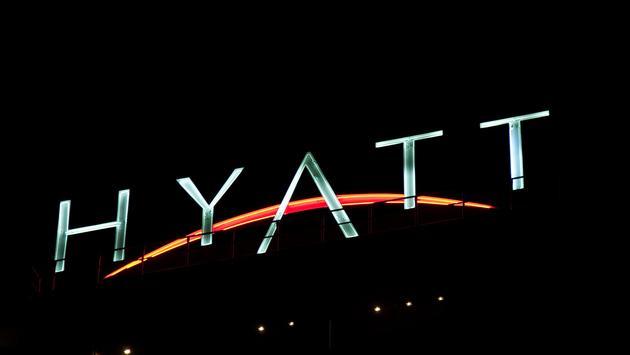 Hyatt marquee.