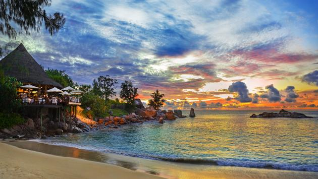 Dusk at Seychelles